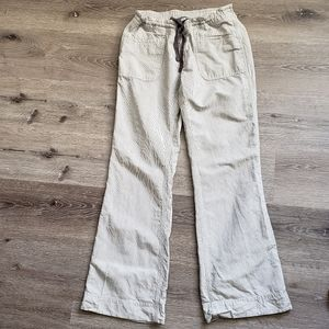 The North Face linen pinstripe wide leg pant